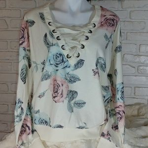 Floral Sweatshirt XXL